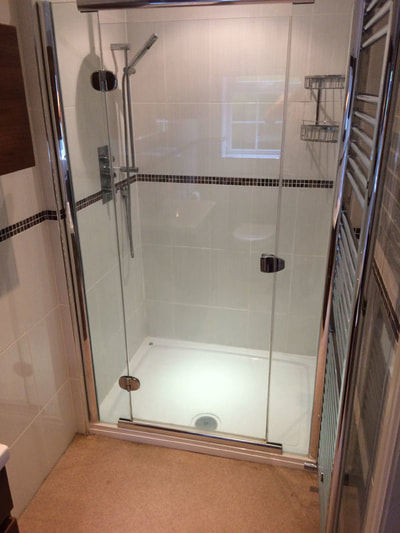 Wet room shower in Bury
